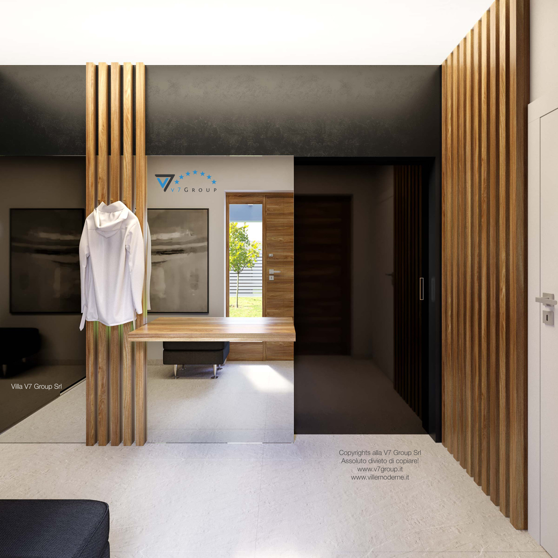 Immagine Villa V42 (progetto originale) - gli specchi nella guardaroba