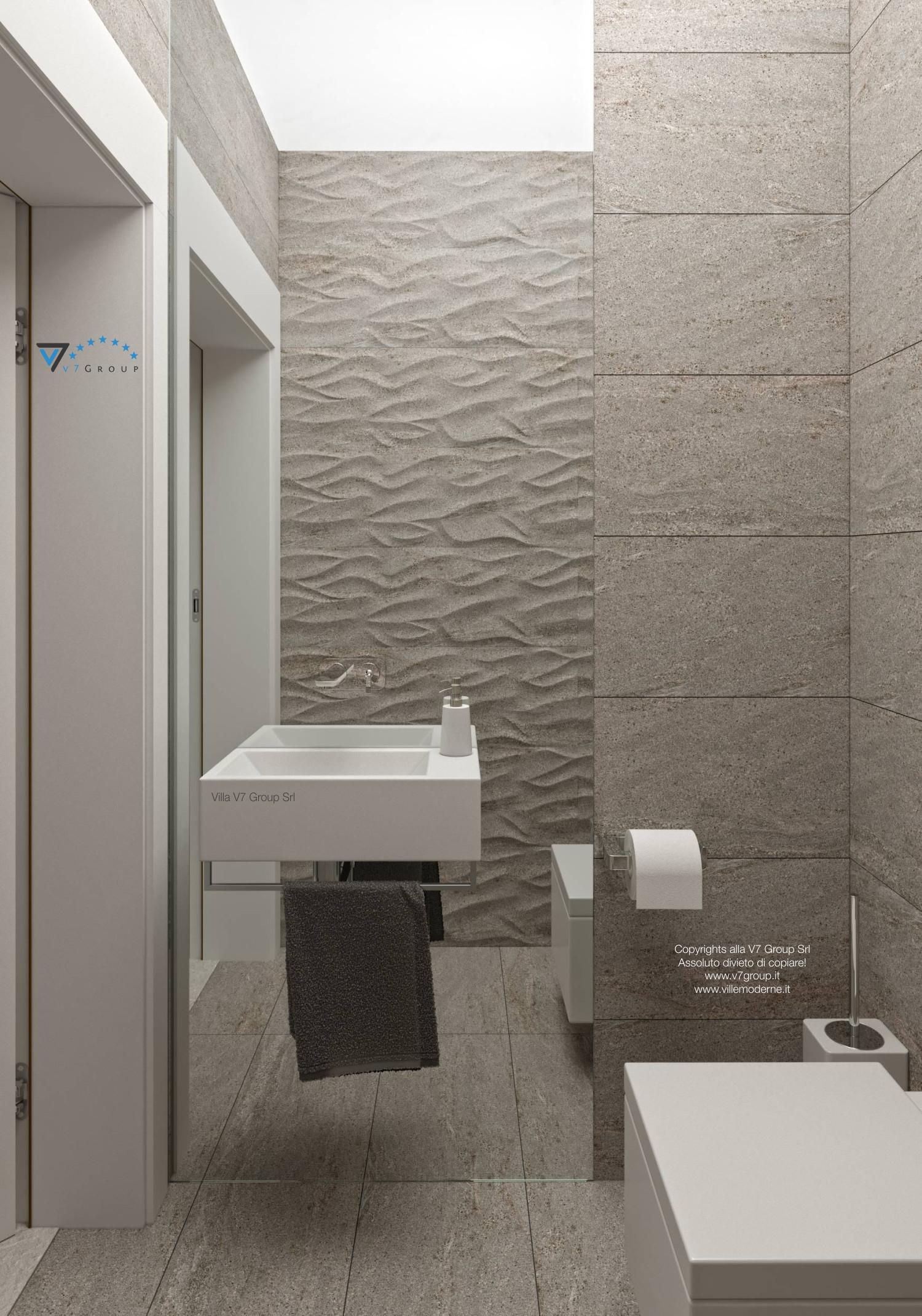 Immagine Villa V42 (progetto originale) - lo specchio nel bagno