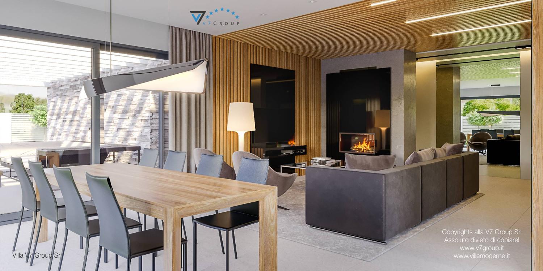 Immagine Villa V42 (progetto originale) - interno 2 - sala da pranzo e soggiorno