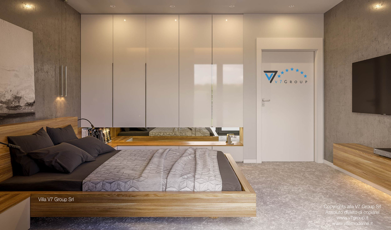 Immagine Villa V42 (progetto originale) - il letto e la porta