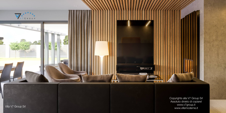 Immagine Villa V42 (progetto originale) - il divano nero al centro