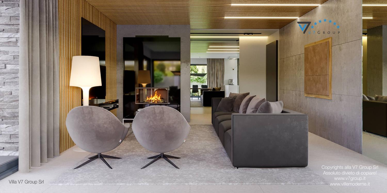 Immagine Villa V42 (progetto originale) - interno 4 - soggiorno