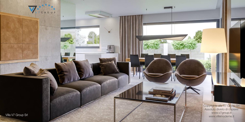 Immagine Villa V42 (progetto originale) - interno 5 - sala da pranzo e soggiorno
