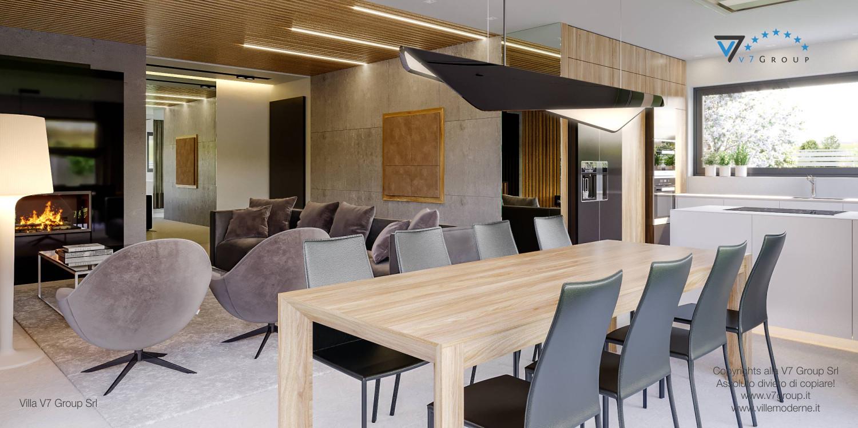 Immagine Villa V42 (progetto originale) - interno 6 - sala da pranzo e soggiorno