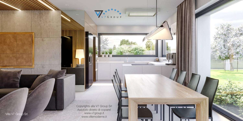 Immagine Villa V42 (progetto originale) - interno 7 - sala da pranzo e cucina
