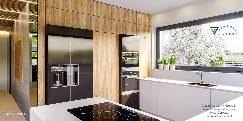 Immagine Villa V42 (progetto originale) - il legno della cucina
