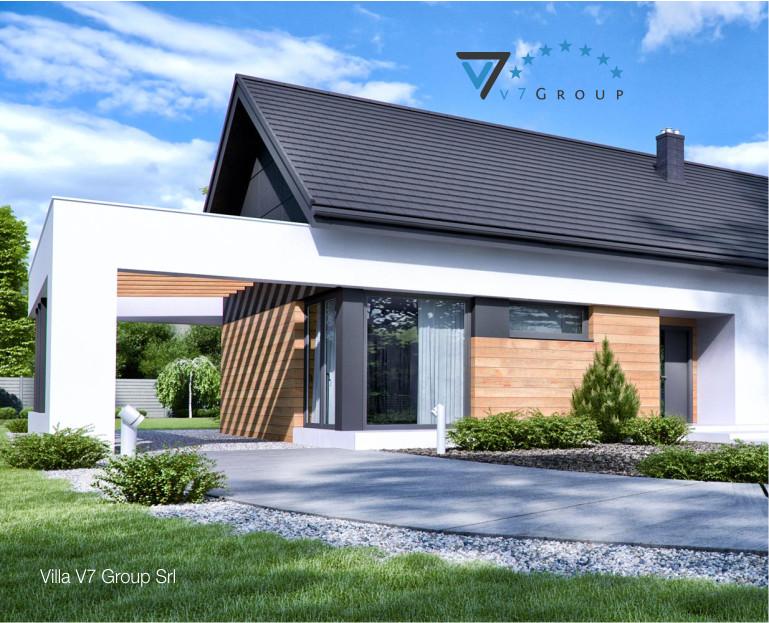 Immagine Villa V44 (progetto originale) - il dettaglio architettonico della casa