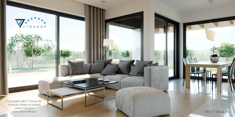 Immagine Villa V44 (progetto originale) - il soggiorno pieno di luce