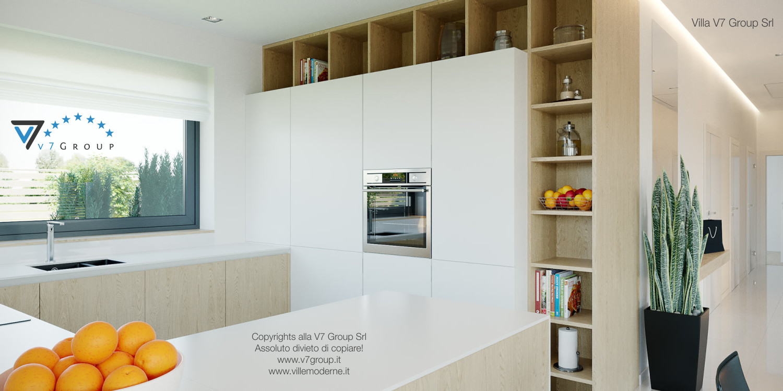 Immagine Villa V44 (progetto originale) - la cucina di colore bianco-crema