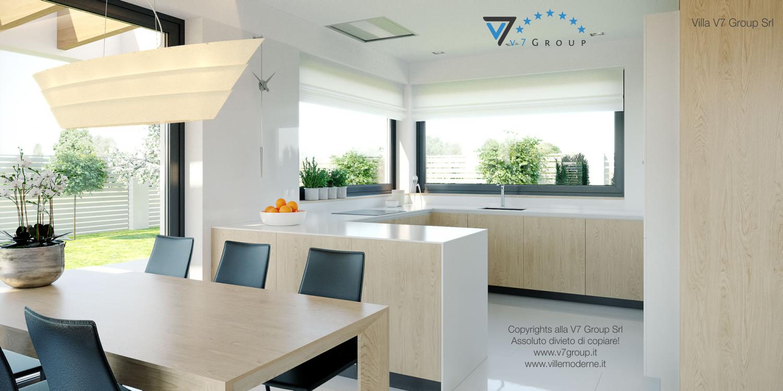 Immagine Villa V44 (progetto originale) - il tavolo in legno e le sedie