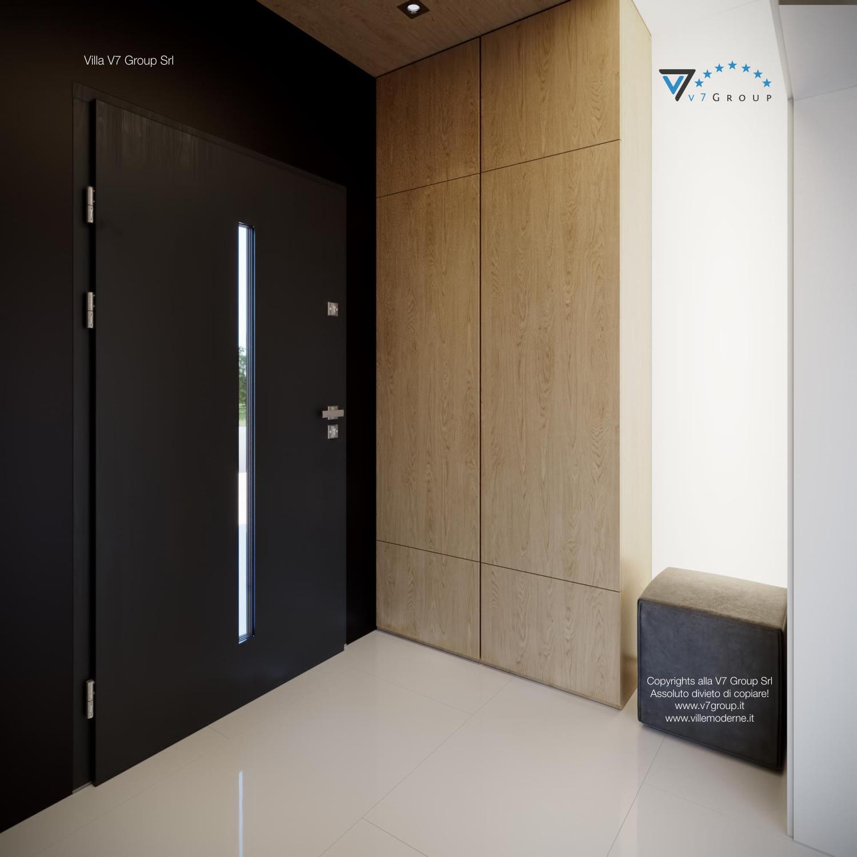 Immagine Villa V44 (progetto originale) - la vista dell'entrata dall'interno