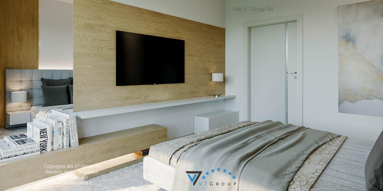 Immagine Villa V44 (progetto originale) - il letto e la tv