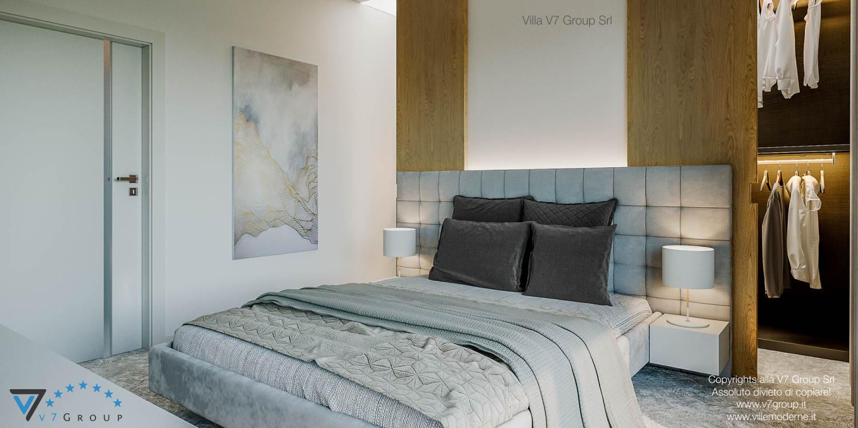 Immagine Villa V44 (progetto originale) - il design della camera matrimoniale