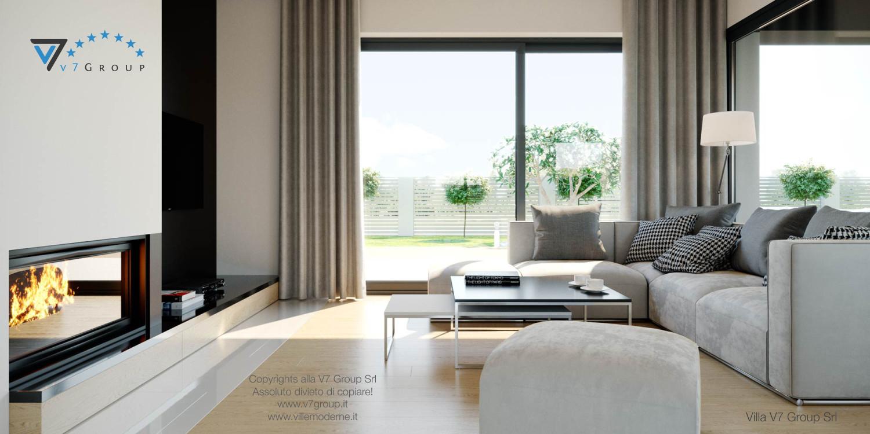 Immagine Villa V44 (progetto originale) - il divano e il camino