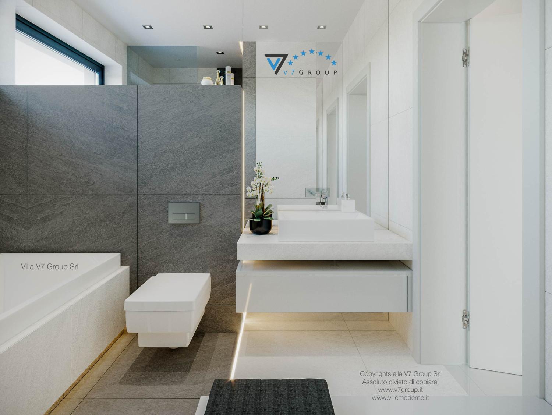 Immagine Villa V44 (progetto originale) - interno 21 - lo specchio nel secondo bagno