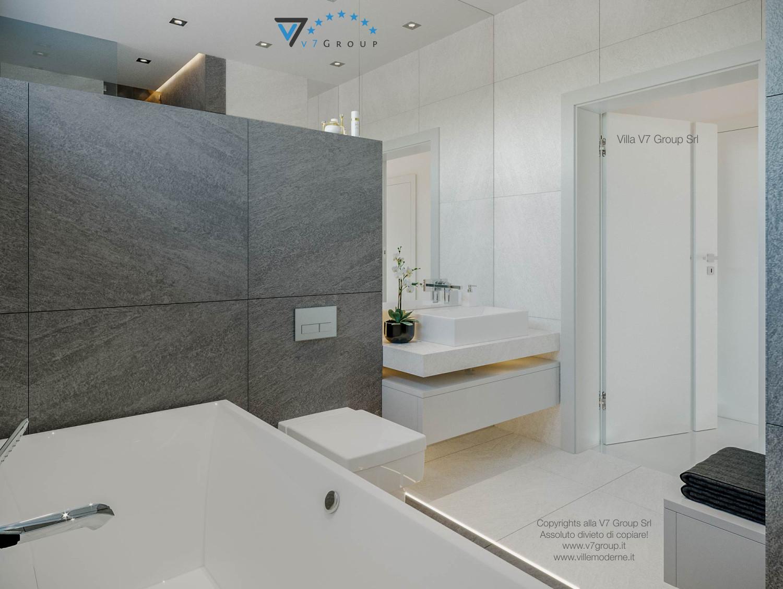 Immagine Villa V44 (progetto originale) - la vasca da bagno e il lavandino