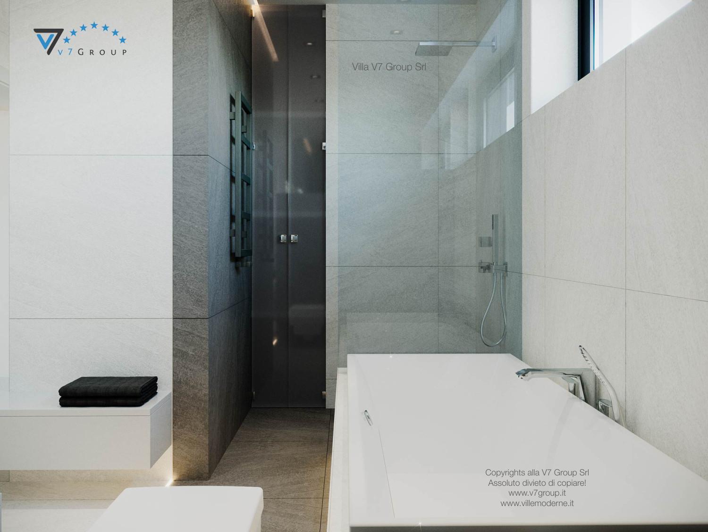Immagine Villa V44 (progetto originale) - la doccia e la vasca da bagno