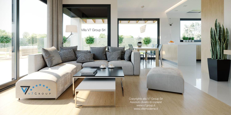 Immagine Villa V44 (progetto originale) - la sistemazione del soggiorno