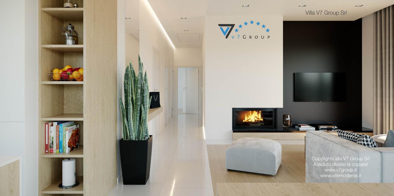 Immagine Villa V44 (progetto originale) - il corridoio e il camino