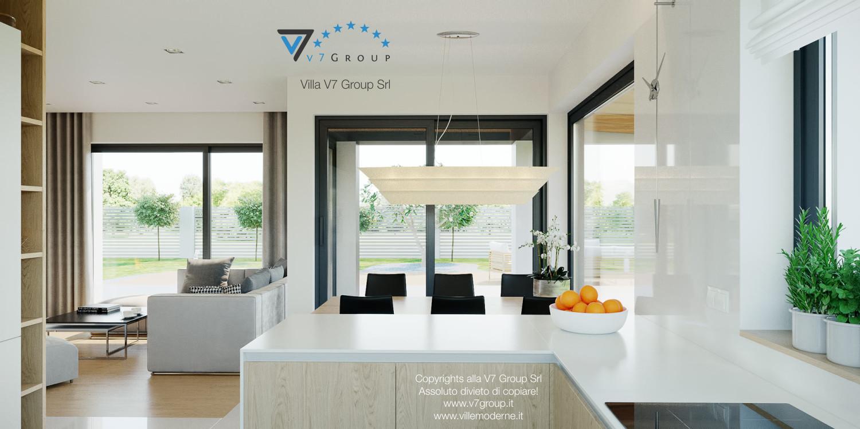 Immagine Villa V44 (progetto originale) - la vista della cucina e della sala da pranzo