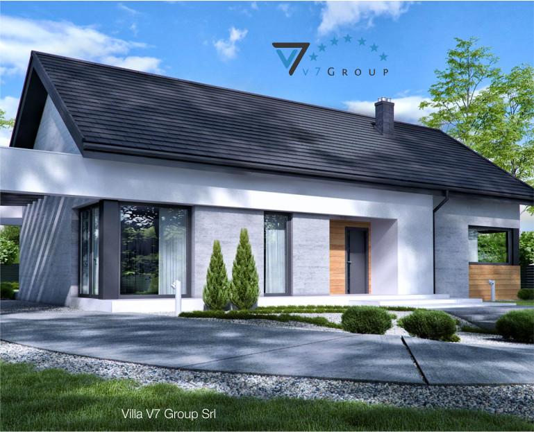 Immagine Villa V45 (progetto originale) - la parte frontale ingrandita