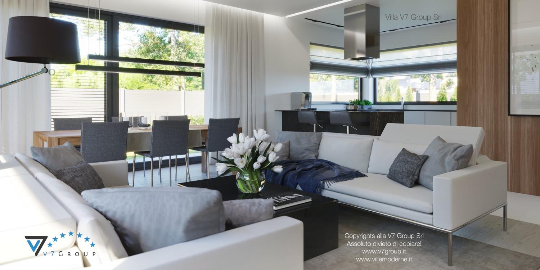 Immagine Villa V45 (progetto originale) - il divano nel soggiorno