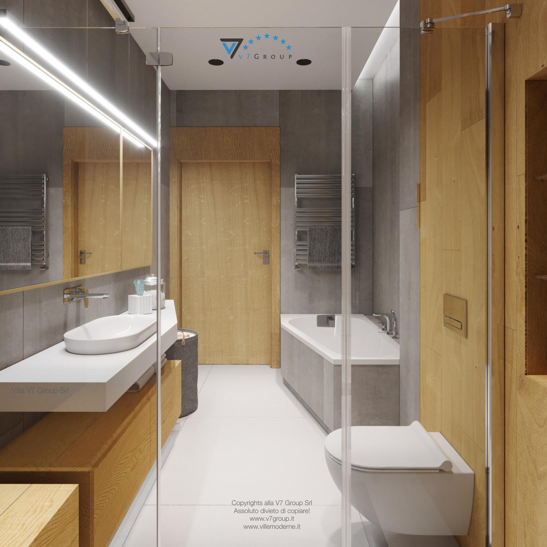 Immagine Villa V45 (progetto originale) - la porta e la vasca da bagno