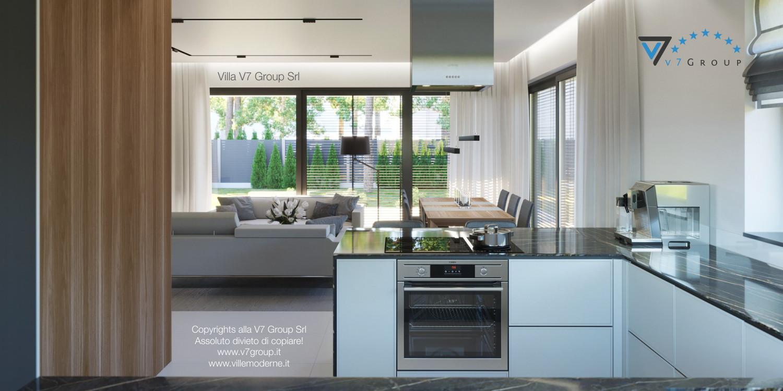 Immagine Villa V45 (progetto originale) - interno 2 - cucina e soggiorno