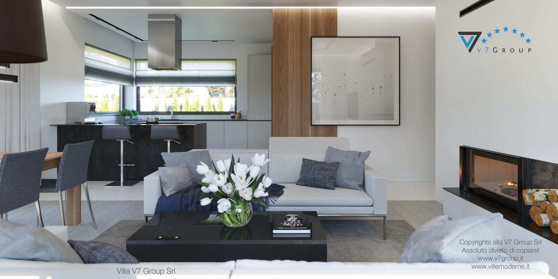 Immagine Villa V45 (progetto originale) - interno 4 - soggiorno e corridoio