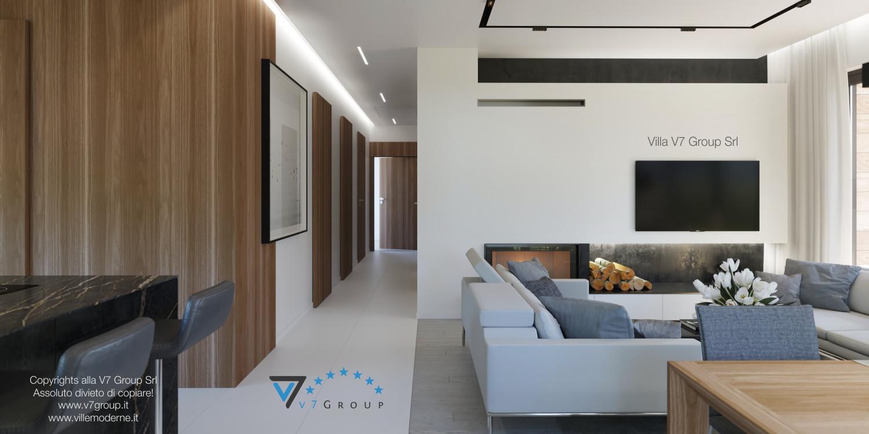 Immagine Villa V45 (progetto originale) - il corridoio interno