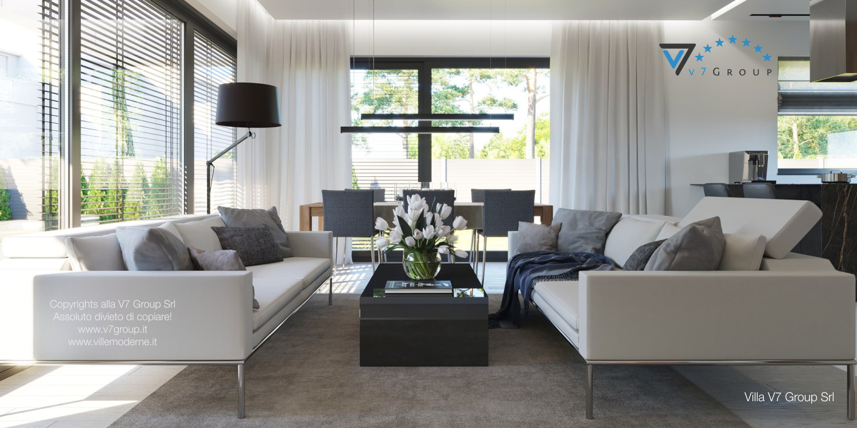 Immagine Villa V45 (progetto originale) - interno 7 - soggiorno e sala da pranzo