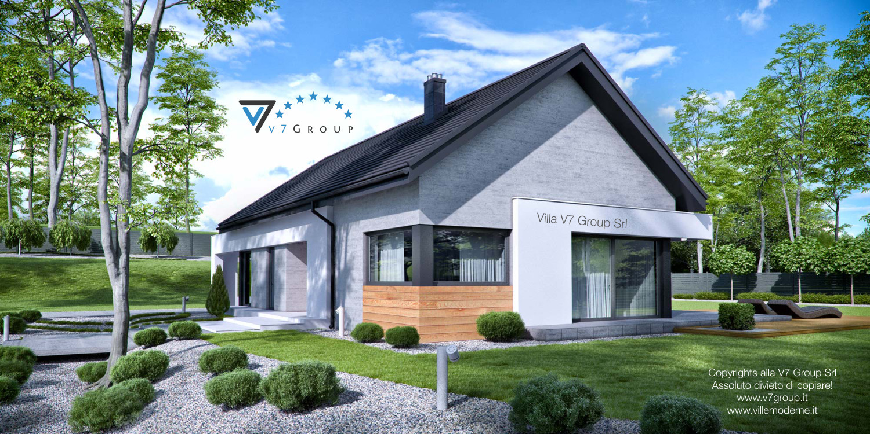 Immagine Villa V45 (progetto originale) - la sistemazione esterna