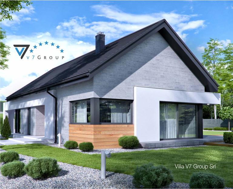 Immagine Villa V45 (progetto originale) - la struttura esterna ingrandita