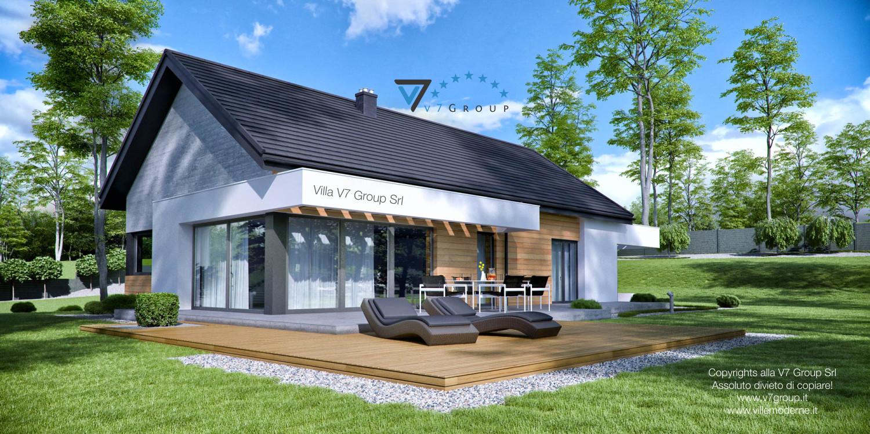 Immagine Villa V45 (progetto originale) - il terrazzo esterno