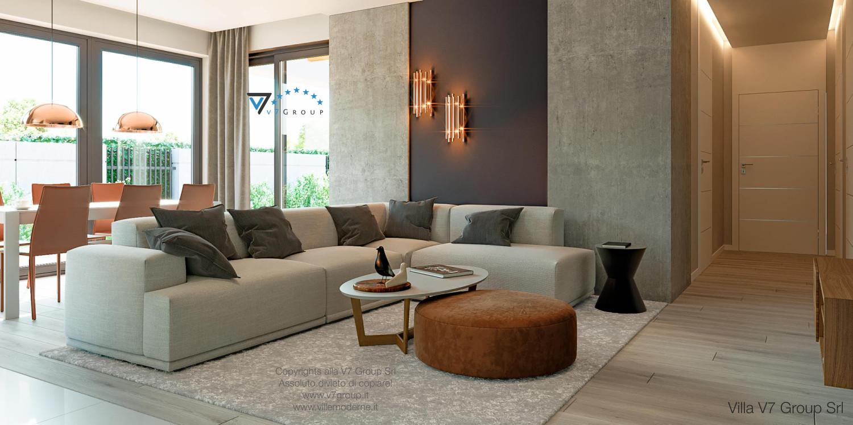 Immagine Villa V46 (progetto originale) - interno 1 - soggiorno e corridoio