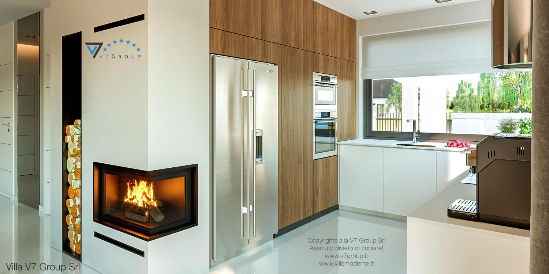 Immagine Villa V46 (progetto originale) - interno 10 - cucina e corridoio