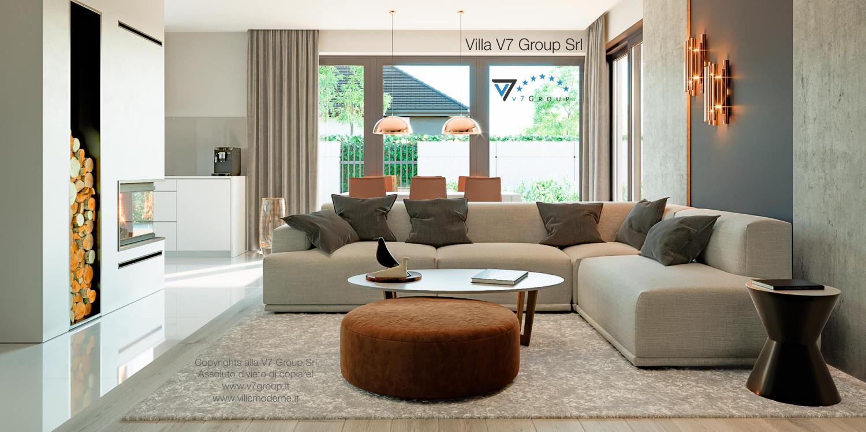 Immagine Villa V46 (progetto originale) - interno 2 - soggiorno