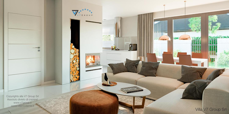 Immagine Villa V46 (progetto originale) - interno 3 - soggiorno e cucina