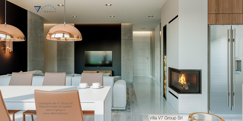 Immagine Villa V46 (progetto originale) - interno 4 - sala da pranzo e soggiorno