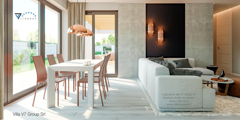 Immagine Villa V46 (progetto originale) - interno 5 - sala da pranzo