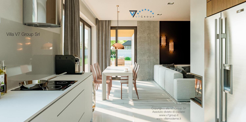 Immagine Villa V46 (progetto originale) - interno 8 - cucina e sala da pranzo