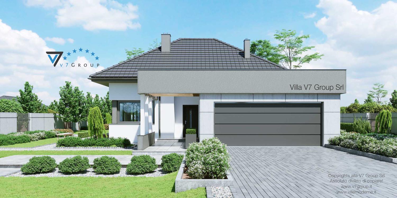 Immagine Villa V46 (progetto originale) - vista frontale e garage grande