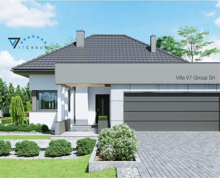 Immagine Villa V46 (progetto originale) - vista frontale e garage piccola
