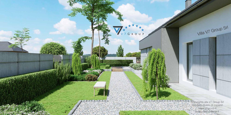Immagine Villa V46 (progetto originale) - vista giardino grande