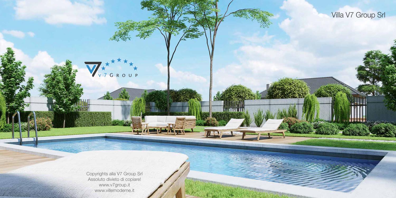 Immagine Villa V46 (progetto originale) - vista terrazzo esterno e piscina grande