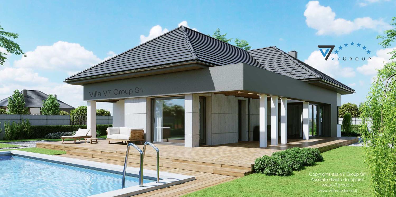Immagine Villa V46 (progetto originale) - vista terrazzo esterno grande