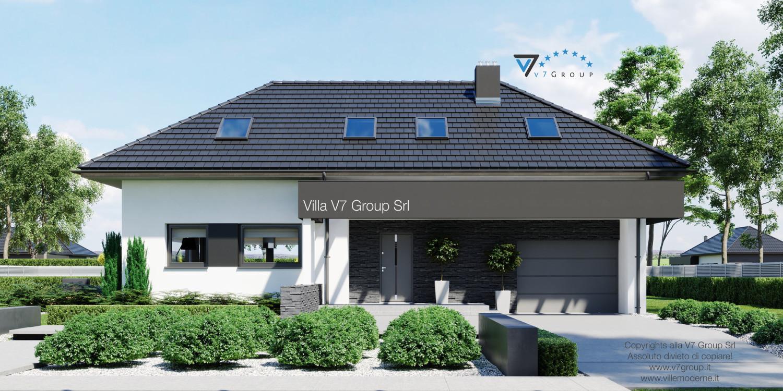 Immagine Villa V48 (progetto originale) - l'entrata principale e il garage