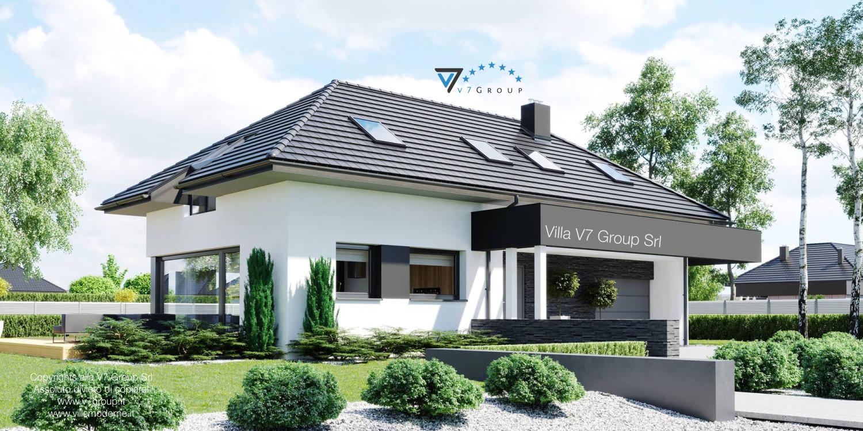 Immagine Villa V48 (progetto originale) - vista frontale laterale grande