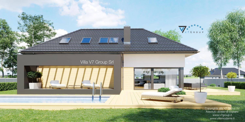 Immagine Villa V48 (progetto originale) - il terrazzo esterno e la piscina