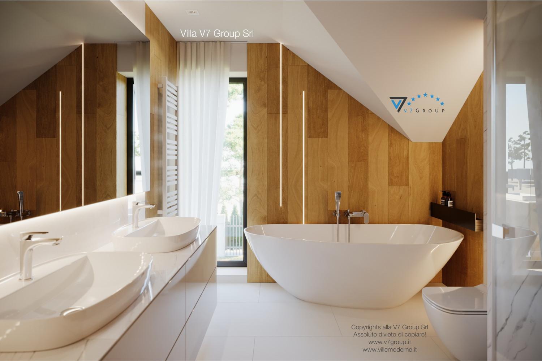 Immagine Villa V49 (progetto originale) - la vasca da bagno particolare